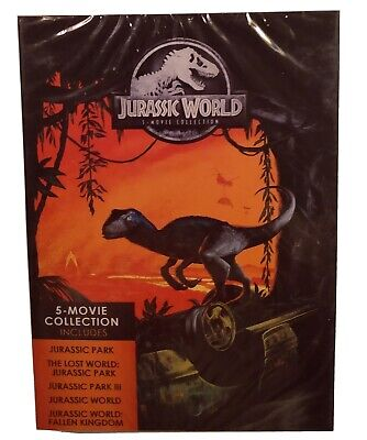 BRAND NEW! JURASSIC WORLD. 5 MOVIE COLLECTION. 5 DISCS. SHIPS FREE