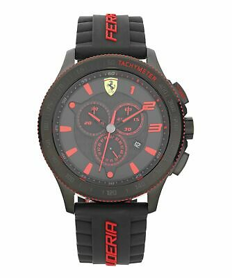 Scuderia Ferrari Men's XX Black Chrono Strap Watch