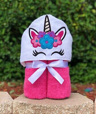 Unicorn Hooded Towel - Personalized Hooded Towel - Unicorn Towel - Fast Shipping