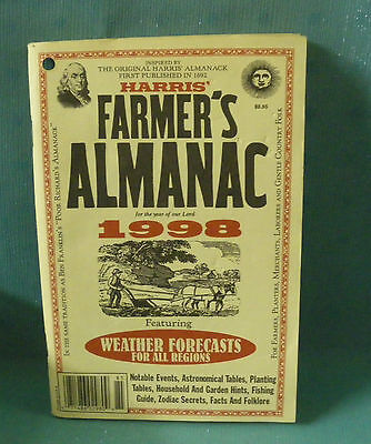 Harris Farmers Almanac For The Year Of Our Lord 1998