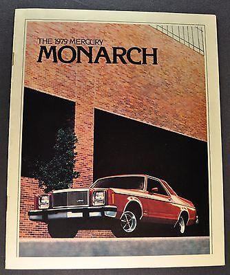 1979 Mercury Monarch Catalog Sales Brochure w/ Ghia & ESS Excellent Original 79