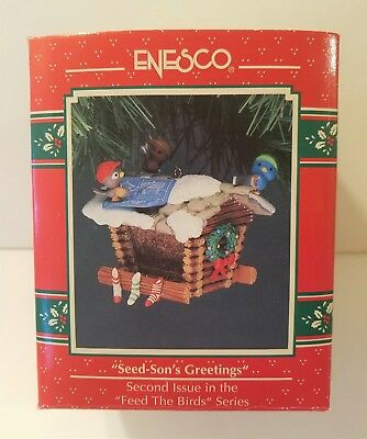 Enesco Seed Sons Greetings 2nd In Feed The Birds Series Christmas Ornament