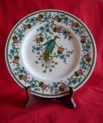 "WEDGWOOD England 10.5"" DISPLAY DINNER PLATE  Peacock LIVERPOOL BIRD MOTIF W392"