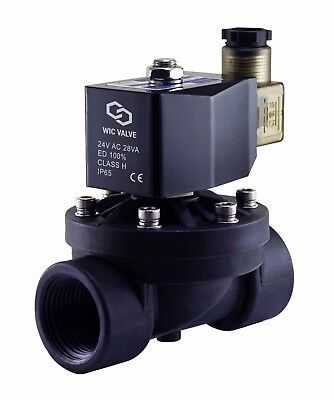 1 Inch Plastic Air Water Electric Solenoid Zero Differential Process Valve 24vac