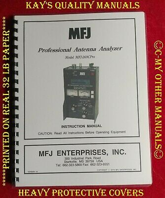 MFJ-269CPro LF/HF/VHF/UHF SWR Analyzer Instruction Manual 😊C-MY OTHER MANUALS😊. Buy it now for 19.95