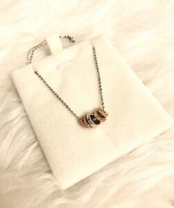 White and Yellow Gold Plated Necklace (New)