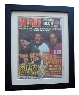 BEST GIG EVER+Foo Fighters+NME 1996+POSTER+AD+FRAMED+ORIGINAL+FAST GLOBAL