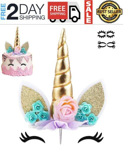 decoracion decorativo fiesta torta cake de cumpleaños unicornio NO es vela