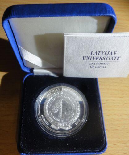 Latvia 2009 silver Proof coin 1 lats UNIVERSITY OF LATVIA~Uncirculate ~COA & Box