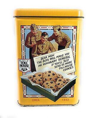 Vintage Nestle Toll House Original Recipe Cookies Empty Tin