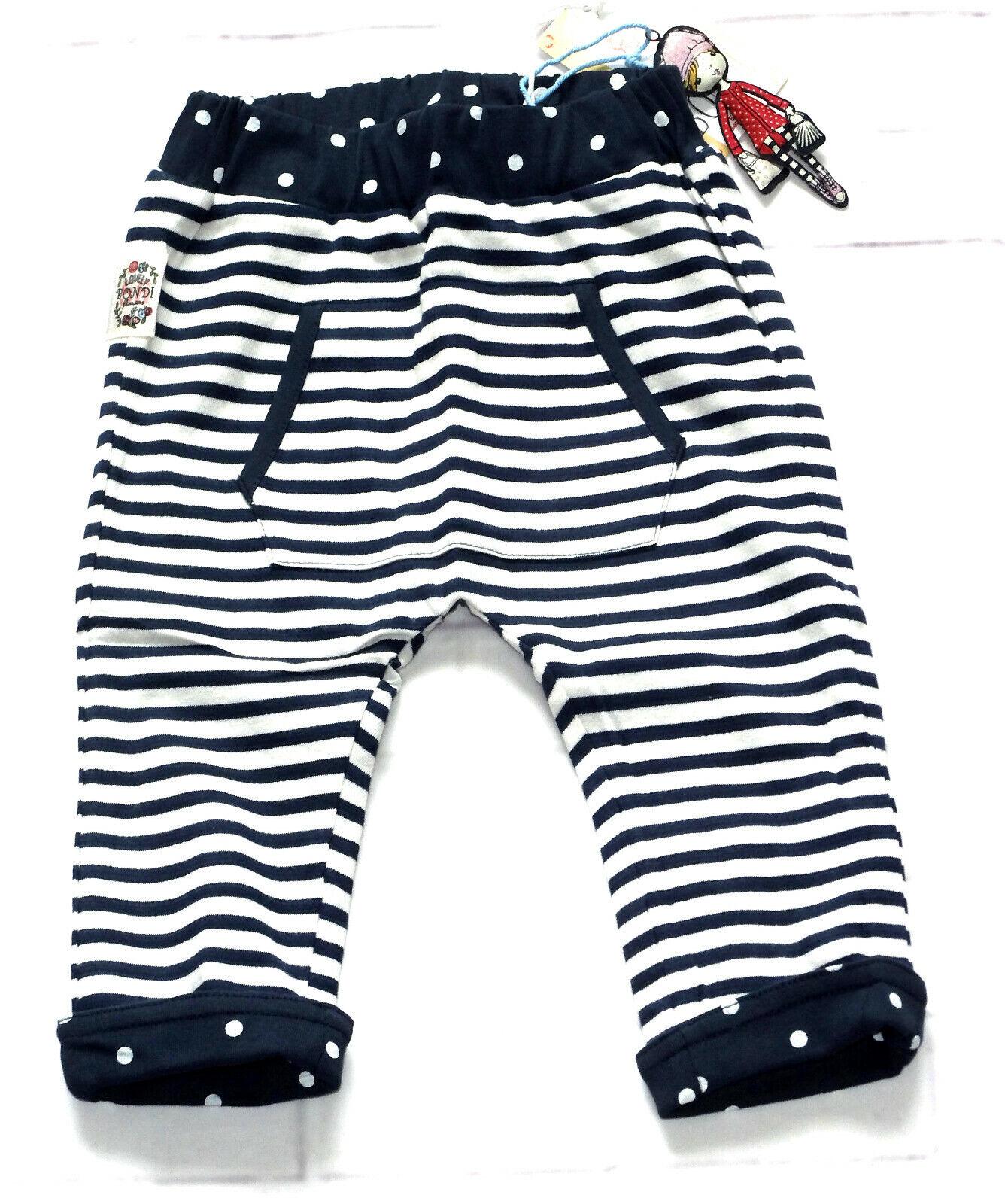 Bondi Wendehose Baby Mädchen Hose Leggings Schlupfhose Stripe  Gr. 68 80 86 NeU