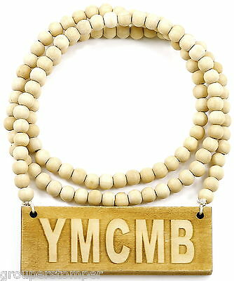 Ymcmb Necklace Good Wood Style Pendant With 36 Inch Wood Chain Billionaires