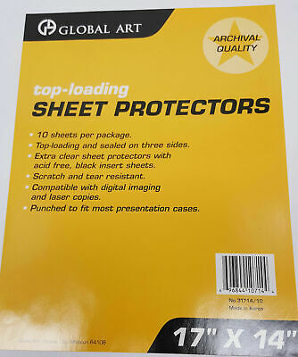 10 Pack Of 17 X 14 Clear Photo Sheet Protectors Presentation Cases Notebooks