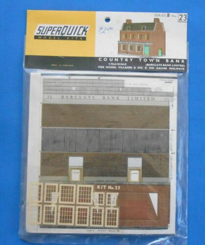 Superquick OO/HO Railway Country Town Bank Series B No 23 Kit Vintage New putz