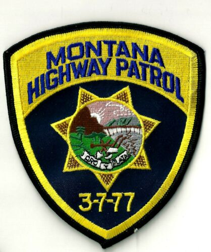 MONTANA HIGHWAY PATROL - SHOULDER PATCH - IRON OR SEW-ON PATCH