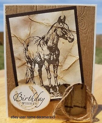 BIRTHDAY, FATHER'S DAY, CARD KIT, STAMPIN UP COUNTRY LIVIN, HORSE, BOOTS, COWBOY