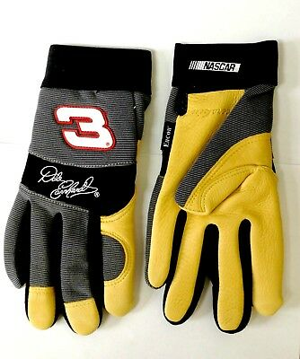Dale Earnhardt 3 Nascar Deerskin Leather Work Driving Collectible Gloves Small