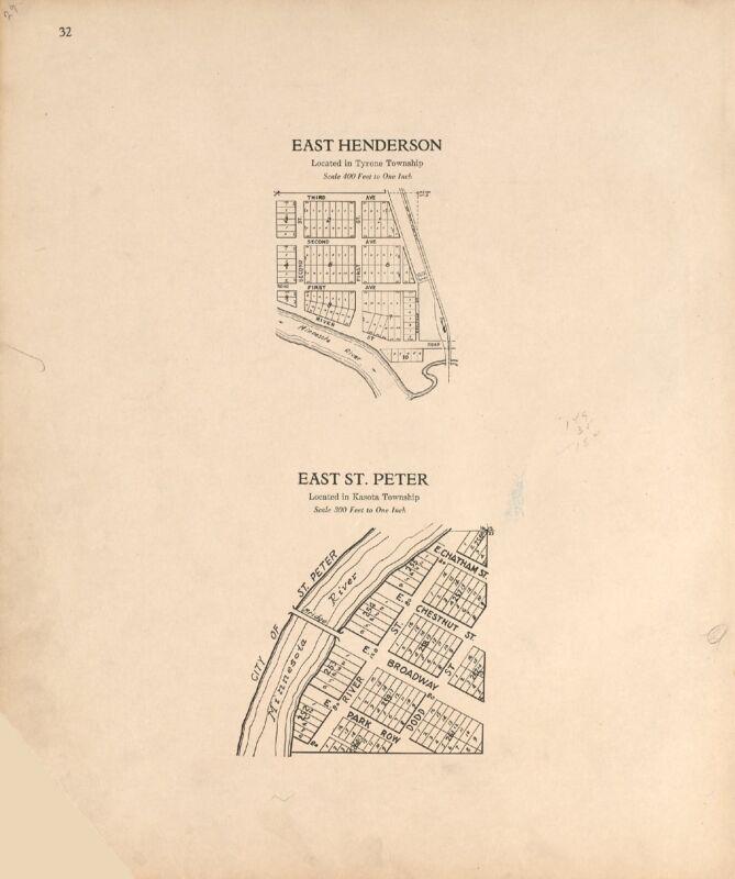 1928 Atlas LE SUEUR COUNTY MINNESOTA  plat maps GENEALOGY history DVD P154
