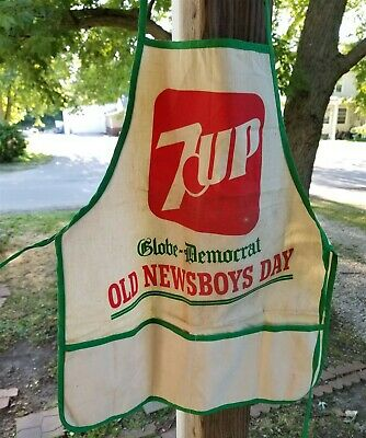VINTAGE GLOBE-DEMOCRAT 7 UP OLD NEWSBOYS DAY NAIL APRON ST LOUIS MISSOURI