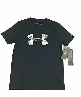 Under Armour Big Boys' Short Sleeve Rashguard Black Size You