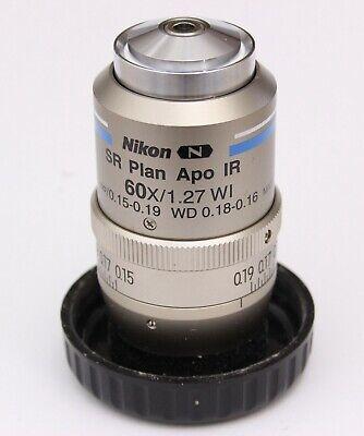 Nikon Sr Plan Apo Ir 60x 1.27 Wi Dic N2 Eclipse Microscope Objective Mry10060