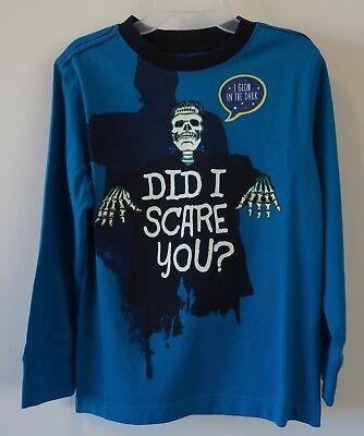 Dark Halloween Line Did I Scare You? Shirt Boy's Size 4 (Halloween-line)