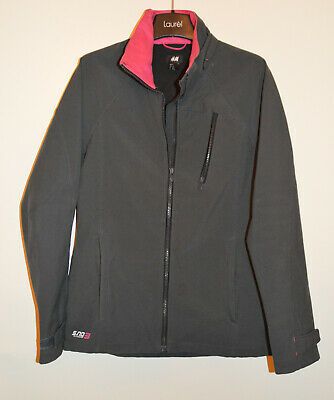 Softshell, Gr.170, grau mit rosa Details, Reißverschluss (Kinder Rosa Damen-jacke)