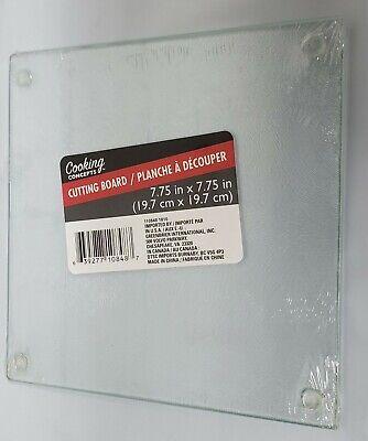 GLASS CUTTING BOARD / TRIVET, SQUARE, CLEAR, TRANSPARENT, appr 8 x 8