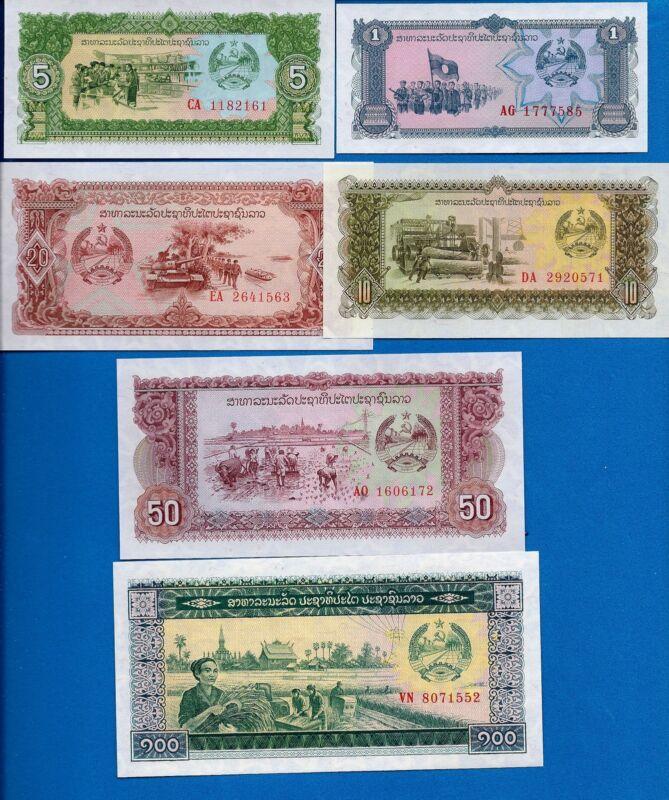 Laos P-25 P-26 P-27 P-28 P-29 P-30 Year 1979 Uncirculated Banknotes Set #1