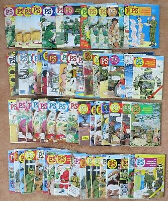 64 piece lot of PS Preventive Maintenance Monthly magazines from 1979 to 1989 !!