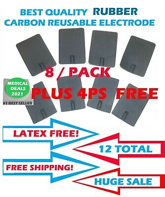 Rubber Electrode Carbon For Chattanooga Intelect Legend Transport Series 12 Ps