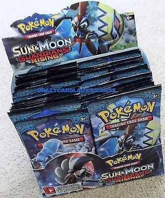 POKEMON SUN & AND MOON GUARDIANS RISING BOOSTER 1/6 BOX 6 PACK LOT FREE SHIPPING