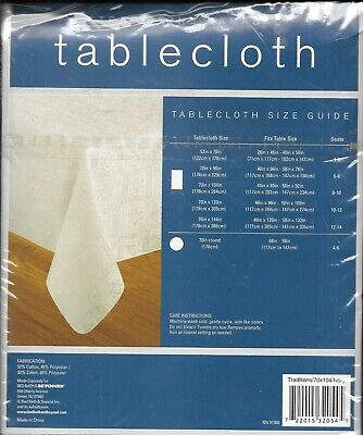 """SHABBAT TABLECLOTH, Shabbes, Jewish Holiday 70 c 104"""" Brand New in Package"""