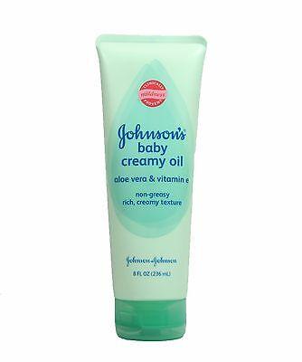 Johnson's Baby Creamy Oil Aloe Vera & Vitamin E 8 fl oz One tube