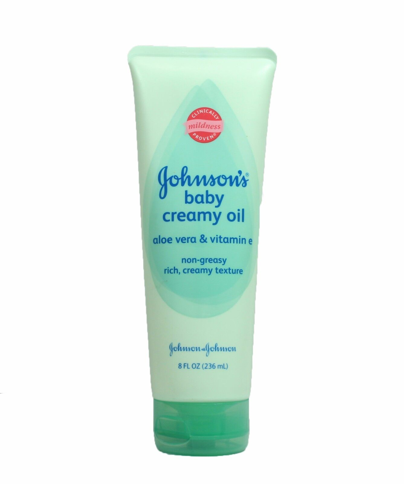 Купить Johnson's Baby Creamy Oil Aloe Vera & Vitamin E 8 fl oz One tube