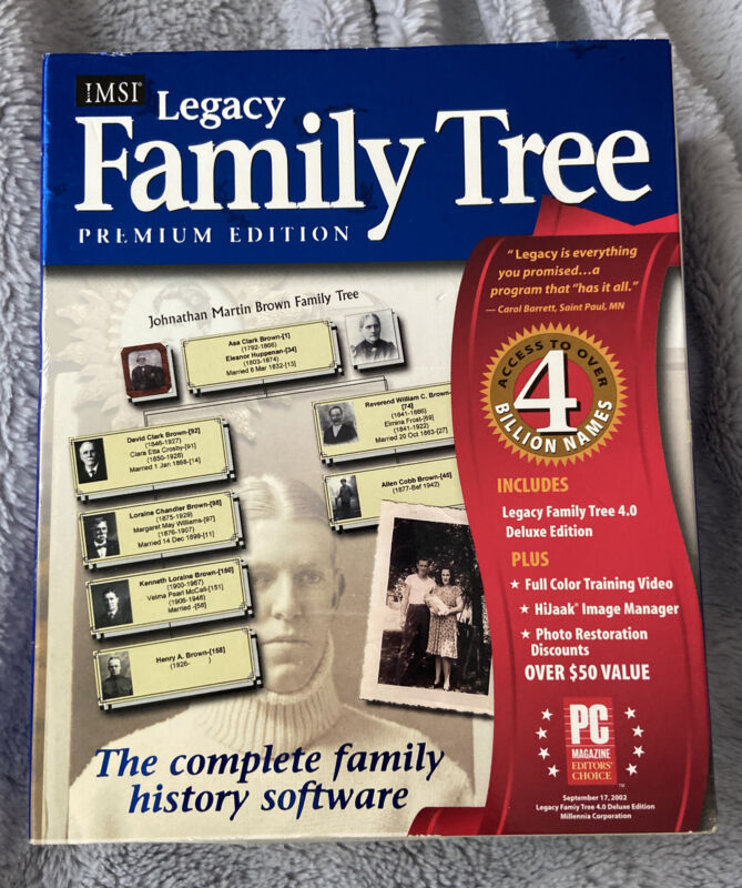 Legacy Family Tree Premium Edition - NEW