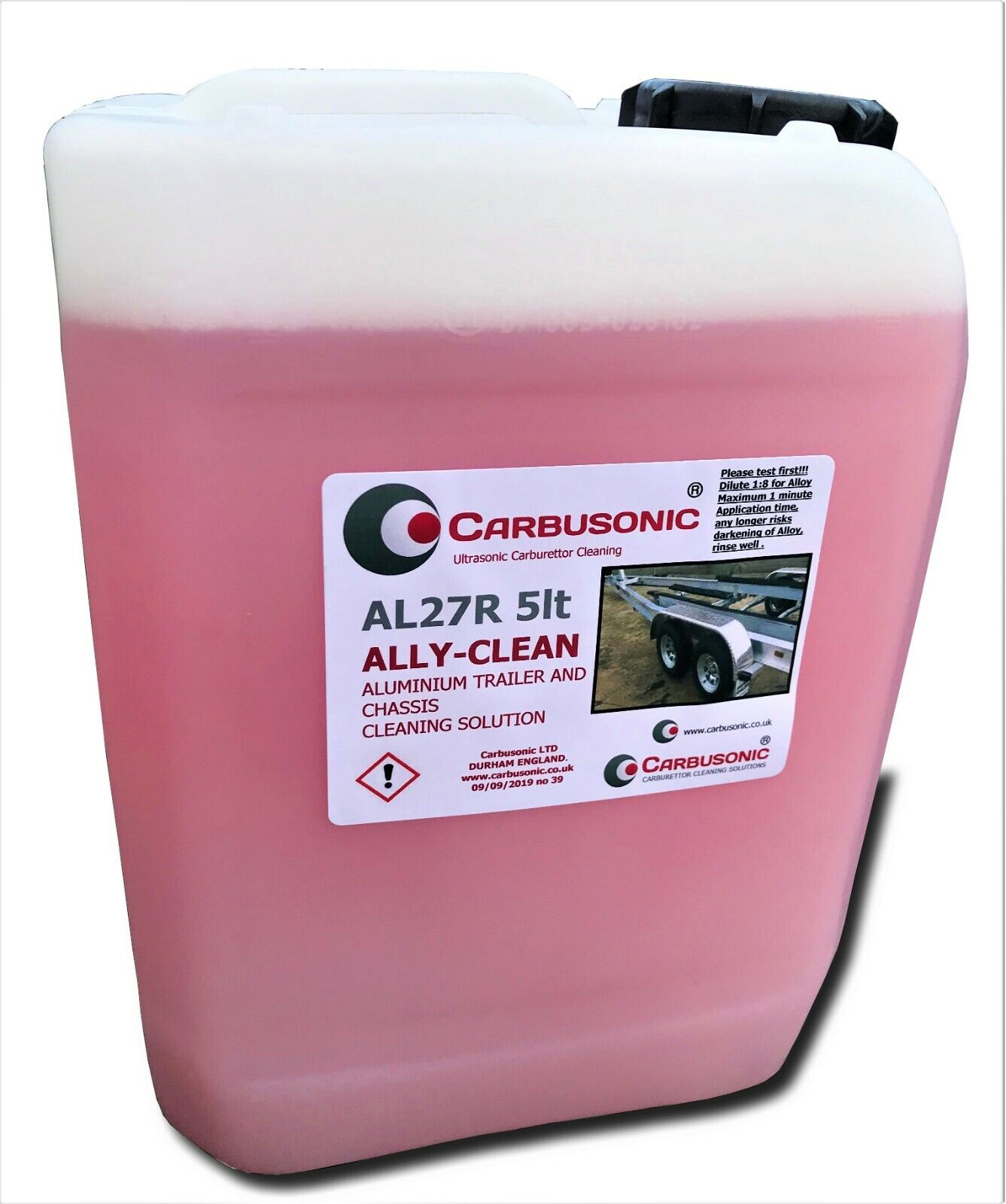 Aluminium cleaner ally bright aluminium trailer,chassis body cleaning solution