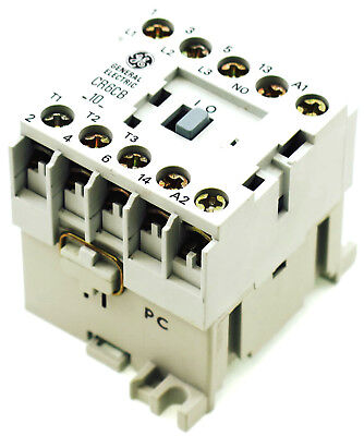 New Ge Miniature Din R.magnetic Contactor Cr6cba 120vac Coil Ca4-9-10-120