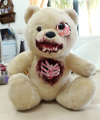 Ooak Gothic Horror Large Teddy Bear Zombie Creepy Dead Doll skeleton Halloween