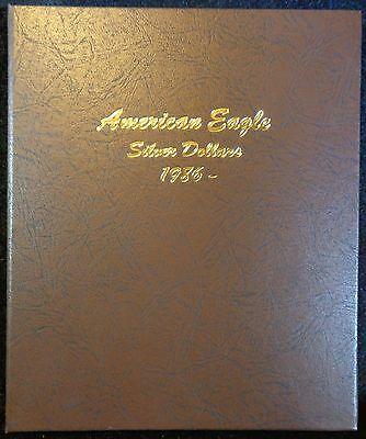 Dansco American Eagle Silver Dollars 1986-2021 Album, New