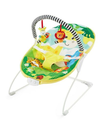 LADIDA Safari Baby Bouncer with Soothing Music. Vibration function, 2 toys, 695