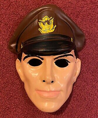 Rare Vintage 12 O'Clock High Ben Cooper Collegeville Halloween Costume Mask