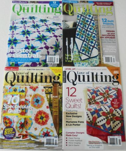 Lot of 4 Fons & Porter Love Of Quilting Quilt Pattern Magazines