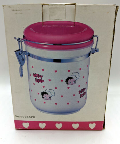 "New Retired Betty Boop 5"" x 6.5"" Kitchen Canister MFR # BBKC02"