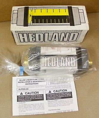 Hedland H705b-010 Flow Meter 34 Npt 10 Gpm H705b010 New In Box Surplus