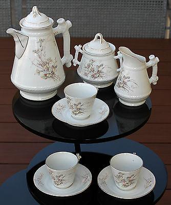 KPM antikes Jugendstil Kaffeeservice 9 teilig für 3 Personen um 1870 !!!