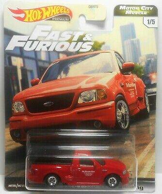 HOT WHEELS 2020 FAST & FURIOUS MOTOR CITY MUSCLE #1 FORD F-150 SVT LIGHTING MOC