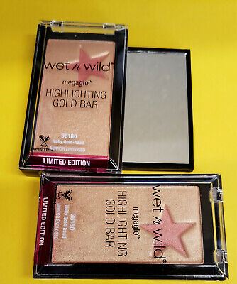 - WET N WILD Megaglo Highlighting Gold Bar - Holly Gold-Head #36180 (FREE US SHIP)