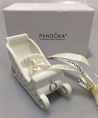 Pandora Porcelain Sleigh Ornament in Box P01047 Holiday 2014 Christmas