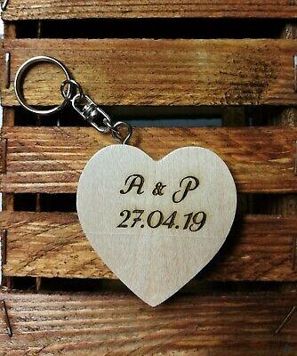 olz Herz Schlüsselanhänger mit Wunsch Gravur personalisiert (Personalisierte Schlüssel)